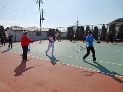 テニスまつりinながら 初心者のためのテニス教室-2