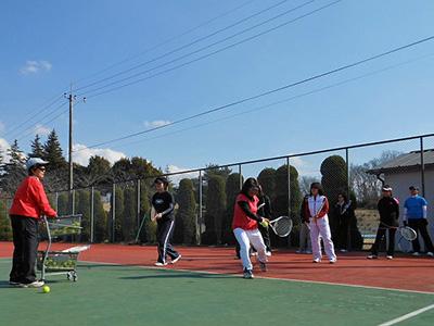 テニスまつりinながら 初心者のためのテニス教室-3