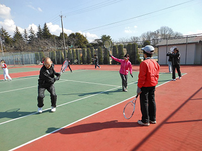 テニスまつりinながら 初心者のためのテニス教室-4